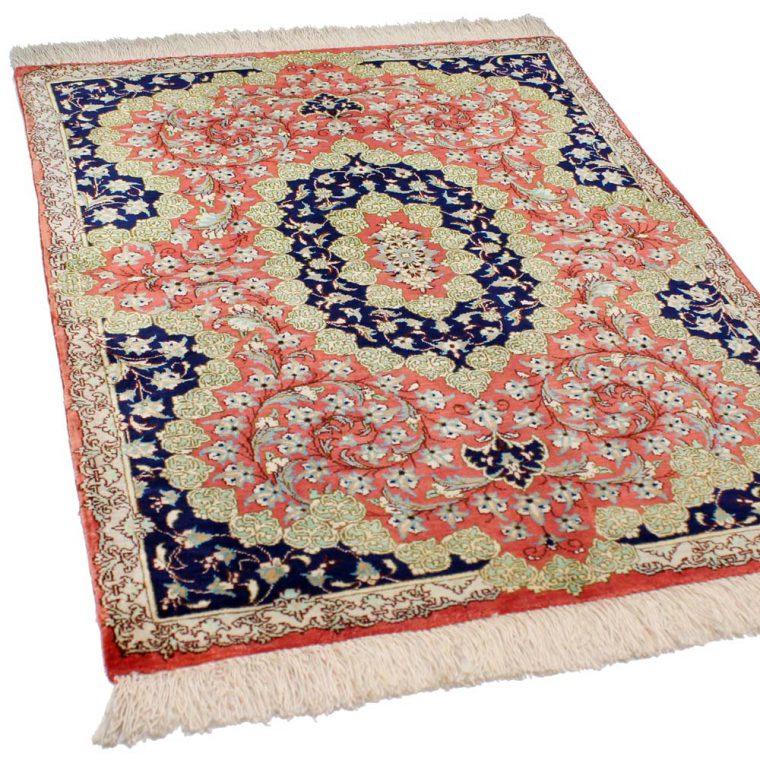 SQAS-558 クム産ペルシャ絨毯 78×59cm