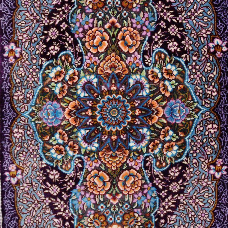 SQIS-106 クム産ペルシャ絨毯 90×30cm